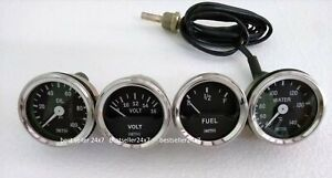 Smiths Replica 52 Mm 2 1 16 Gauges Kit Temp Oil Fuel Volt Gauge