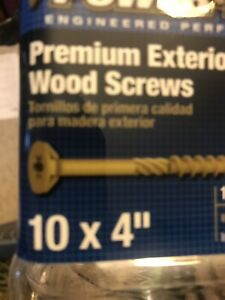 5 Lbs Of 4 Inch Gold Deck Screws With Torx 25 Star Bit Included