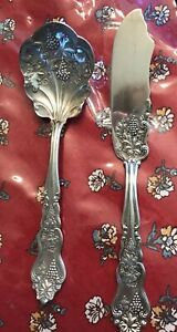 American Silver Co Moselle Grape Silverplate 1906 Master Butter