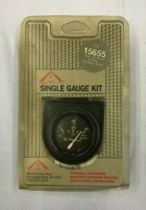 Nos 2 12v Black Electrical Oil Pressure Gauge 0 100 Psi W Bezel Sending Unit