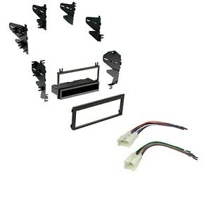 Car Radio Stereo Dash Install Kit With Harness For Selected 1981 2004 Toyota
