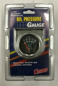 Vintage Nos Mechanical 2 Oil Pressure Gauge 0 100 Psi W Chrome Bezel 7 152