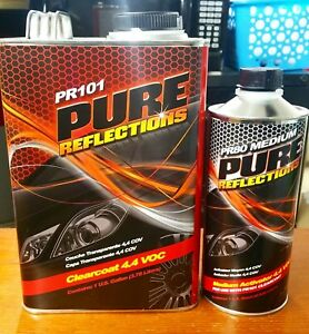 Pure Reflections Clear Coat Acrylic Urethane Clearcoat Gallon Medium Activator