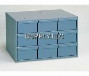 Metal 9 Bin Storage Drawer Cabinet Steel Parts Nuts Bolts Fasteners Screws