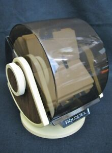 Vintage Rolodex Rotary Business Card File W Swivel Base Model No Sw 24c