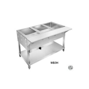 3 Well Commercial Restaurant Dry Gas Steam Table