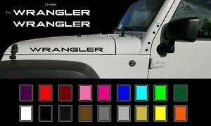 Jeep Wrangler Hood Decals Stickers Graphics Rubicon Tj Jk Cj Yj 2 23