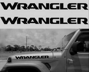 Jeep Wrangler Hood Decals Stickers Graphics Rubicon Jl 2 5 X 23 2018 Models