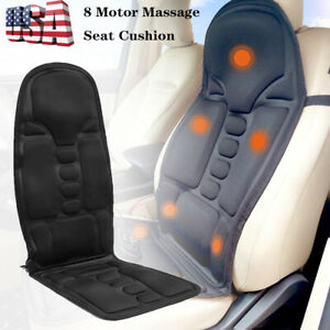 Motor Massage Car Seat Cushion Back Relief Chair Pad Heated Lumbar Massager Us