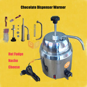 Hot Nacho Fudge Chocolate Cheese Heating Machine Dispenser Warmer 110v 220v