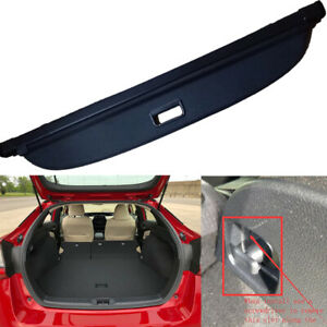 For2016 2020 Toyota Prius Retractable Cargo Cover Rear Trunk Privacy Black Shade