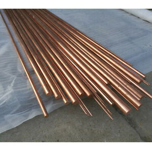 Pure Copper Rod Bar Metal Round 99 9 Dia 3mm 4 6 8 10 14 18 25mm Length 200mm
