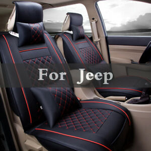 Leather Car Seat Cover Cushion Accessories For Jeep Cherokee Compass Grand Srt8