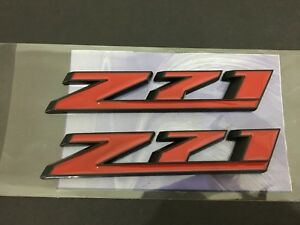 2 Pcs Abs Z71 Custom Sport Car Trunk Decals Sticker Badge Emblems Universal