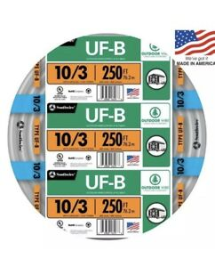 Southwire 250 10 3 Uf Wire By The Roll 13059155 Free Ship