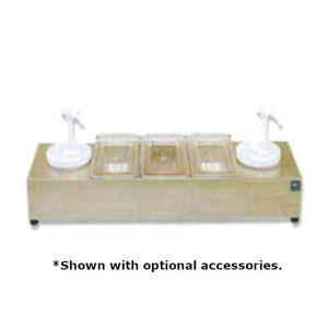 Nemco 88101 cb 2p Roll a grill Condiment Station With Ice Packs