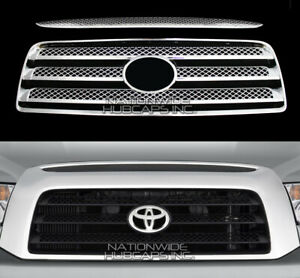 Fits 07 09 Toyota Tundra Chrome Snap On Grille Overlay Grill Covers Front Insert