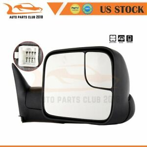 For 2002 08 Dodge Ram 1500 2500 3500 Rh Side Folding Power Heated Towing Mirror