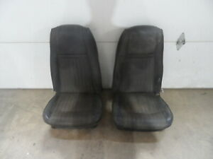 1969 1970 Ford Mustang Cougar Eliminator Mach Highback Front Bucket Seats Black