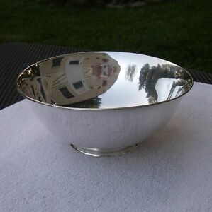 Fine Arthur Stone Arts Crafts Sterling 7 1 4 Inch Round Footed Bowl No Mono