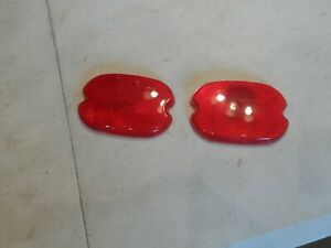 Nos 47 56 Chevy Truck Panel Suburban Glo brite Tail Light Lens Oe Red Hot Rod Sk