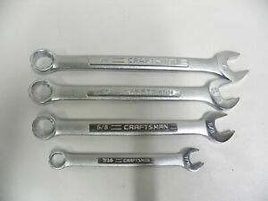 Lot 4 Craftsman Usa v vv Series Combination Sae Wrench Wrenches d