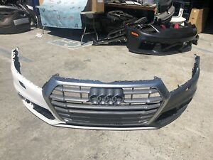 2018 2019 2020 Audi Q5 Front Bumper Cover W Grills Oem Used