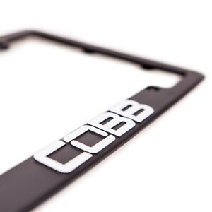 New Cobb Tuning Black License Plate Frame Jdm Accessport