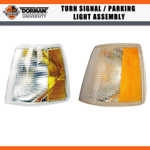 2 Pcs Front Turn Signal Parking Light Assembly Dorman For 1993 Volvo 940