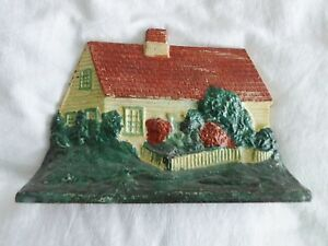 All Original Vintage 1940 Cast Iron Doorstop Eastern Specialty Cape Cod House