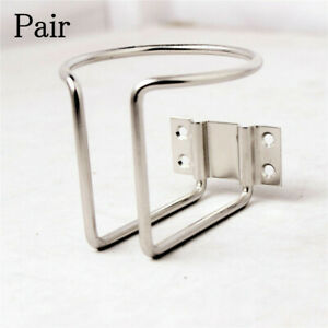 2pcs Stainless Steel Ring Cup Drink Holder For Boat Car Marine Yacht With Screws