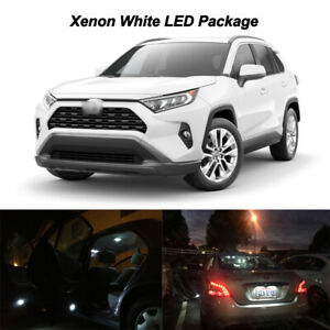 8 X White Bright Led Interior Lights Bulbs Package For 2019 2020 Toyota Rav4