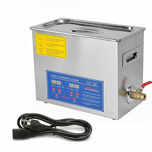 New 6l Ultrasonic Cleaner Stainless Steel Industry Heated Heater W Timer Rok