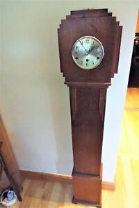 Art Deco Grandmother Clock With Westminster Chimes Movement