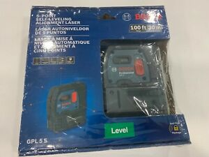 Bosch Gpl 5 S 100ft 5 point Self leveling Alignment Laser Brand New Sealed