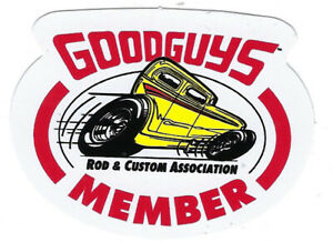 Goodguys Member Decals 2 5 Long By 2 High Body Red Black White Yellow Hot Rod