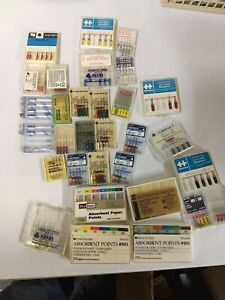 Dental 250pc Rotary Files Reamers Broaches 3 Opened Box Of Absorbant Points