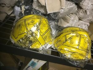 Lot Of 2 Msa V guard Cap Style Hard Hats With Ratchet Suspensions Yellow