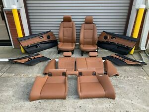 07 08 Bmw Oem E92 328 335 Front Seats Non Sport Brown Interior Door Panels