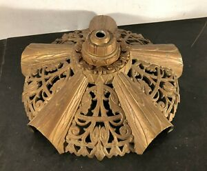 Antique Vtg Art Deco Lincoln Slipper Slip Shade Chandelier Light Fixture Part