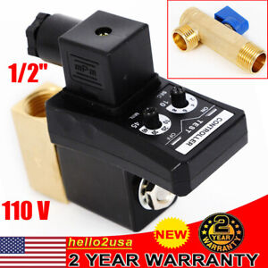 Auto Automatic Timed Electronic Drain Valve For Air Compressor Water Tank 1 2