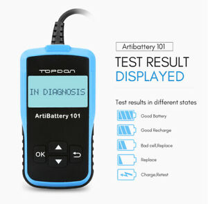 Ab101 Automotive Car Battery Tester Digital Analyzer Cranking Alternator Test12v