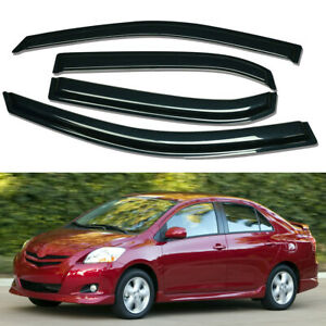 For 2007 2013 Toyota Yaris Smoke Window Visors Sun Rain Guard Wind Deflector 4pc