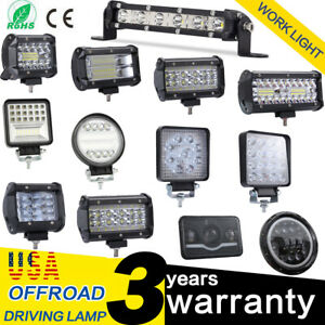 Us 60w 500w Round Flood Led Work Light Bar Fog Driving Lamp Truck Tractor Suv