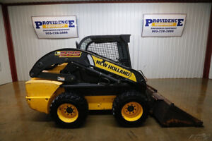 New Holland L225 Wheeled Skid Steer Loader Open Rops 57hp High Flow 2 Speed