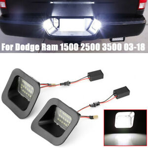 For Dodge Ram 1500 2500 3500 03 18 License Plate Rear Bumper Lights Led Lamps