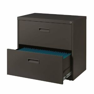 30 Wide 2 Drawer Lateral File Cabinet In Charcoal