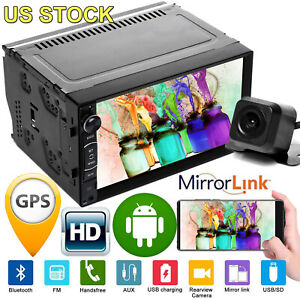 For Chevrolet Gmc Android 2din Car Stereo Quad Core Gps Navi Wifi Mp5 Radio Us