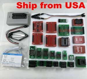 Xgecu Tl866ii Plus Programmer For Flash Nand Eprom 25 Adapters clip Ship From Us