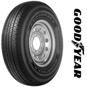 4brand New St225 75r15 Goodyear Endurance Trailer Tires 117n 2257515 225 75 15